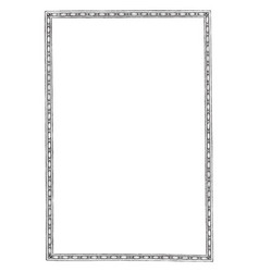Simple border is a narrow pattern full page vector