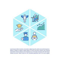 staff training concept icon with text vector image