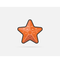 Starfish can be used as Logo or Icon vector