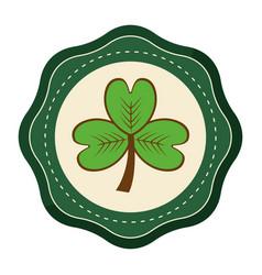 Sticker clover plant decoration design vector