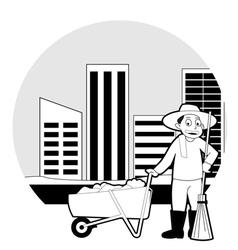Street cleaner cartoon vector image