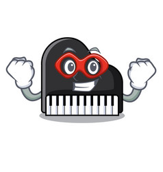 super hero piano character cartoon style vector image