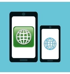 Technology design social media icon smartphone vector