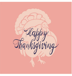 turkey cock thanksgiving concept background vector image