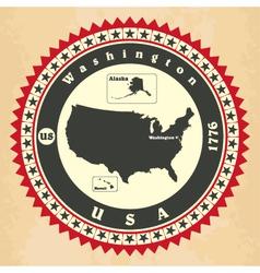 Vintage label-sticker cards united states am vector