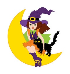 Witch - Halloween vector image