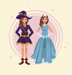 women cosplay style vector image