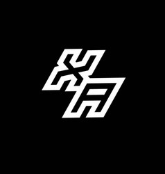 Xa logo monogram with up to down style negative vector