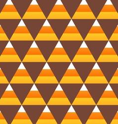 halloween candy corn seamless pattern vector image