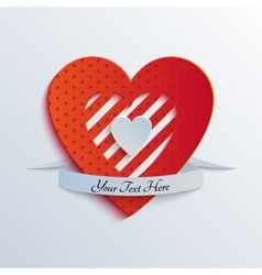 Sliced Paper Heart vector image