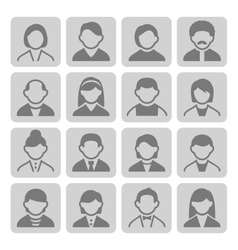 User icons set 3-2 vector image