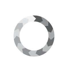 Abstract geometric circle of segment arrows icon vector image