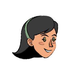 Face woman head hair diadem imag vector