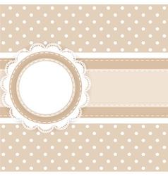 Scrapbooking card vector image
