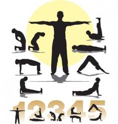 set five Tibetans rituals vector image