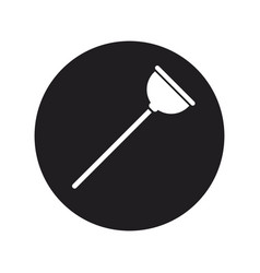 Toilet plunger with handle cleaning icon vector