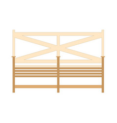wooden one park bench isolated on white background vector image