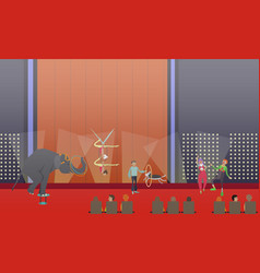 circus show in flat style vector image