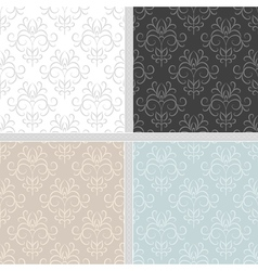 Damask ethnic seamless textile pattern vector image