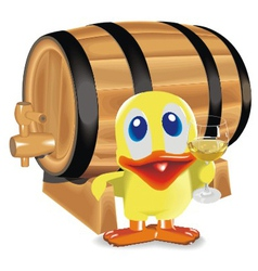 duck about a barrel vector image