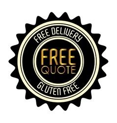 free quote design vector image