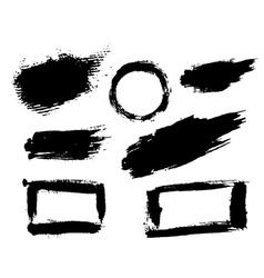 Grunge brush texture smear vector