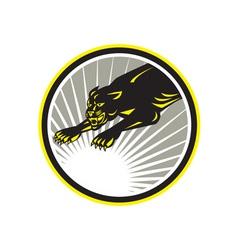 Panther Big Cat Growling Circle vector image