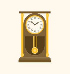 pendulum wooden retro clock vector image
