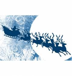 Santa and moon vector image vector image