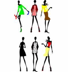 six design sketches vector image