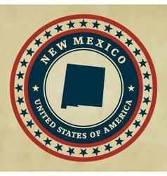 Vintage label New Mexico vector image vector image