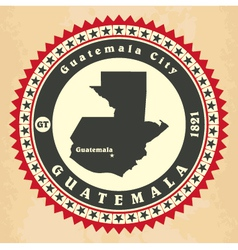Vintage label-sticker cards of Guatemala vector image