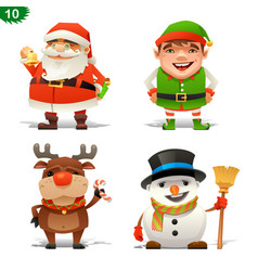 christmas professions set vector image vector image