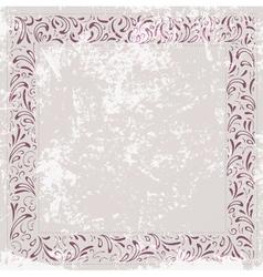 Floral Border Grunge vector image vector image
