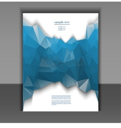 flyer for design layout with a polygonal pattern vector image vector image
