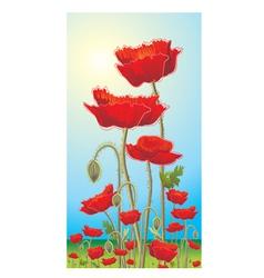 poppy vector image vector image