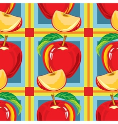 seamless pattern of red apple vector image
