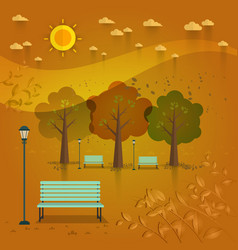 summer day park natural landscape in the flat vector image