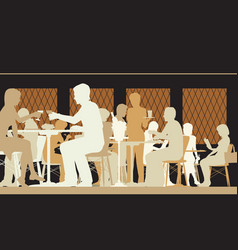 toned restaurant scene vector image
