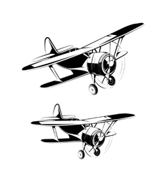 Aircraft silhouettes icons vector