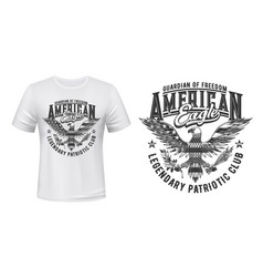 american eagle flag t-shirt print mockup us club vector image
