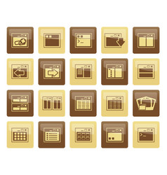 Application programming server and computer icon vector