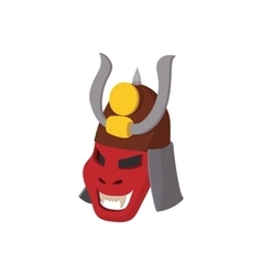 Armour mask icon cartoon style vector image