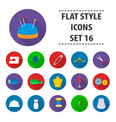 Atelie set icons in flat style big collection vector