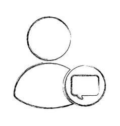 Avatar user with speech bubble vector