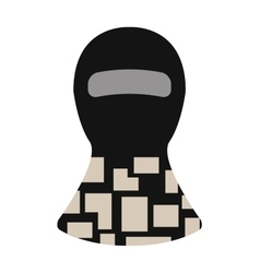 Balaclava winter face protection hat flat clothes vector