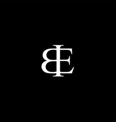 Be letter mark monogram logo icon vector