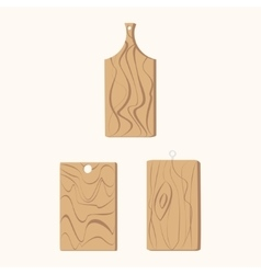 Brown wooden cutting vector