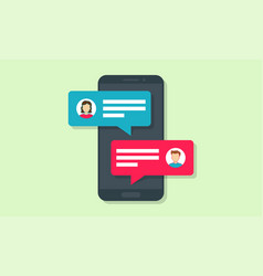 chat message notifications in phone vector image
