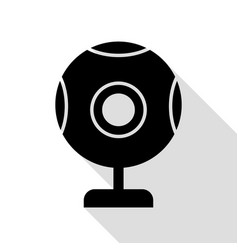 chat web camera sign black icon with flat style vector image